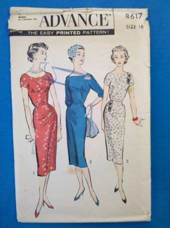 Advance 8617 vintage sewing pattern from 1958.