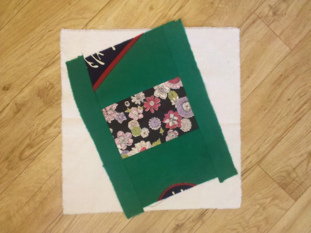 crazy log cabin quilt square 13