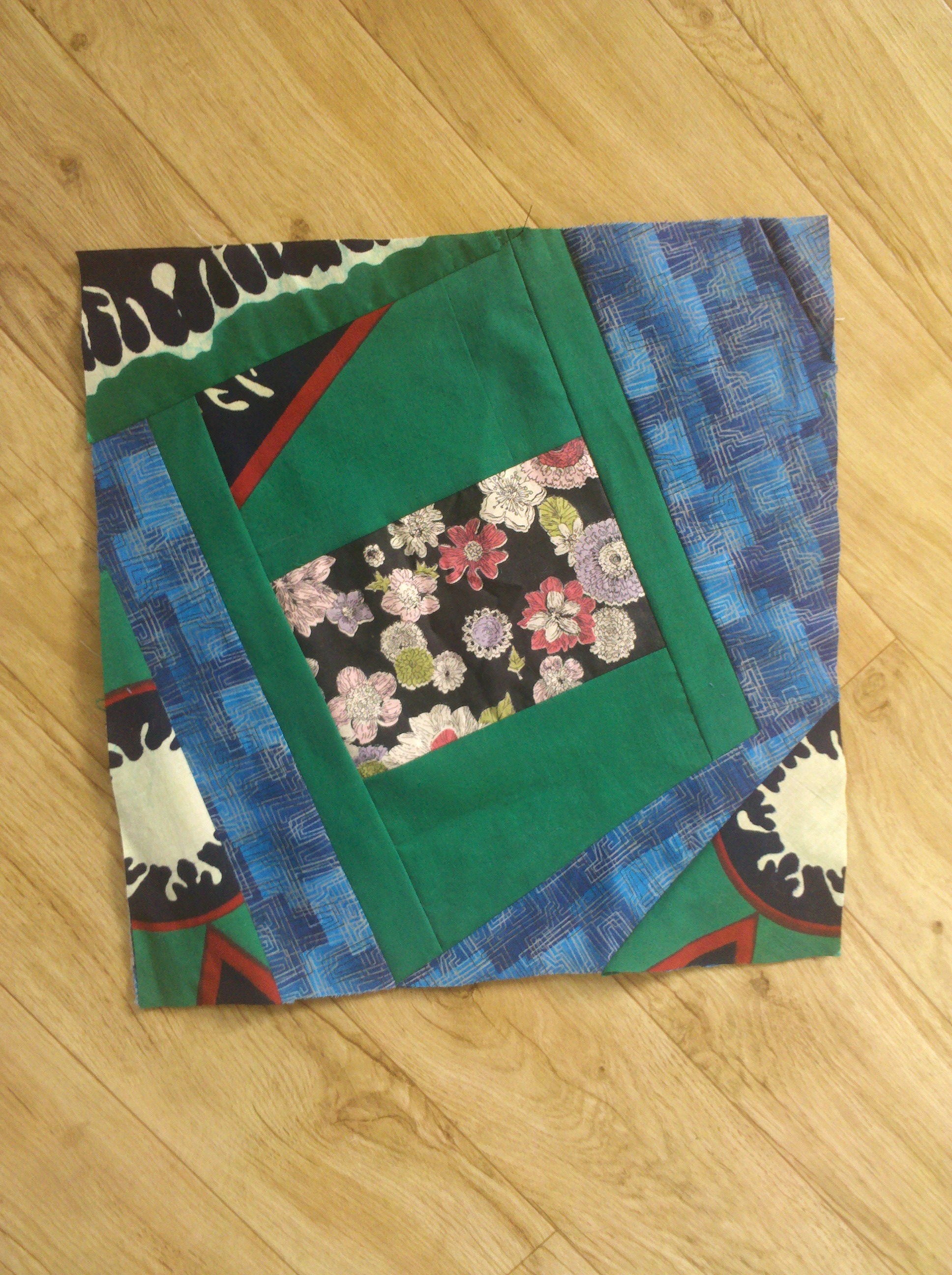 Crazy Log Cabin Quilt Square Beginner Tutorial Western