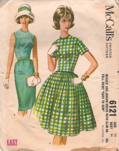 McCall's 6121 vintage sewing pattern, from 1961.
