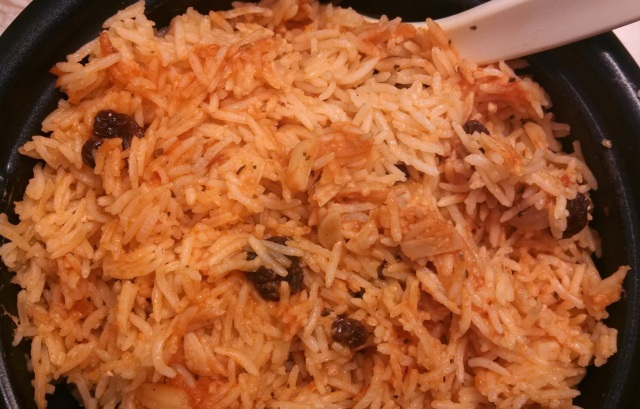 red Spanish rice pilaf